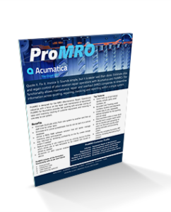 ProMRO Software Brochure