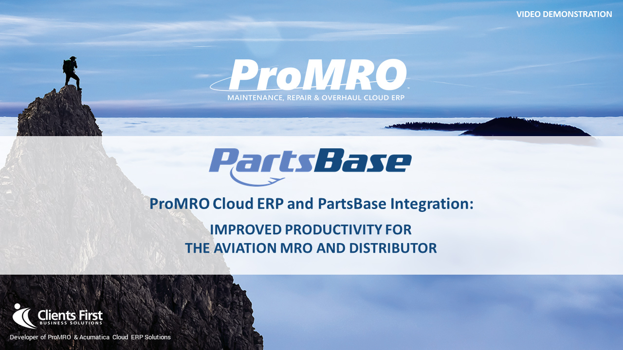 PartsBase Integration to ProMRO Cloud ERP