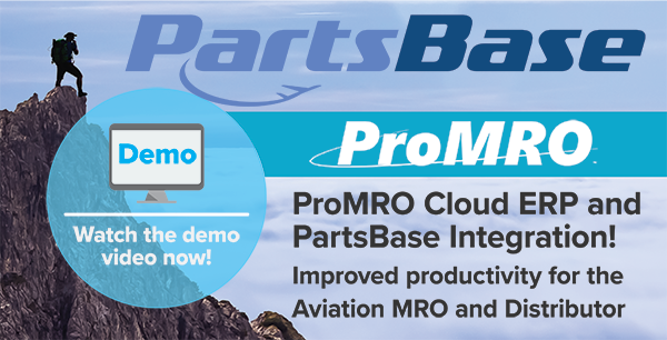 PartsBase Integration to Cloud Software ProMRO