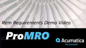 MRO Item Requirements Software