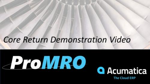 Core returns and tracking with MRO Software